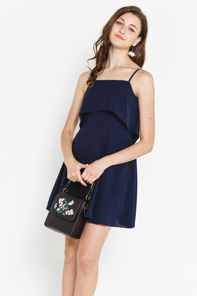 Golda Dress Navy