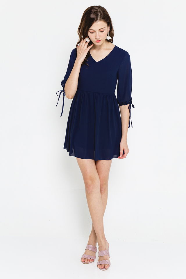 Gertrude Dress Navy