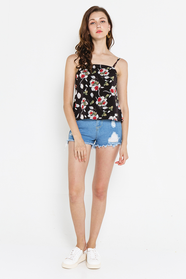 Winona Top Black Floral