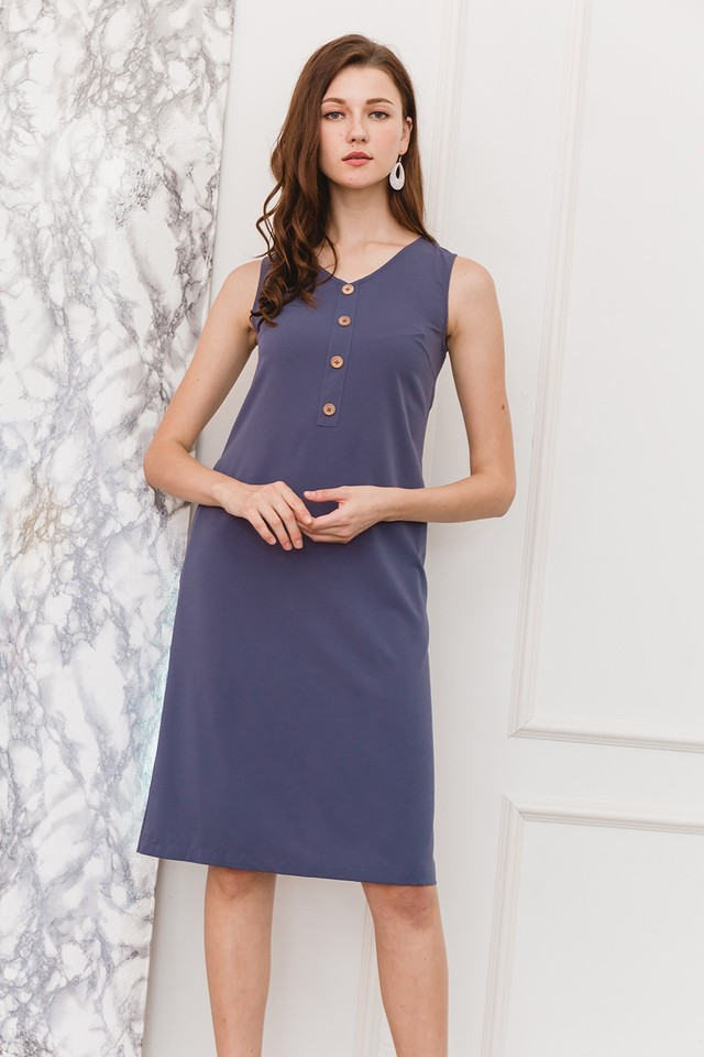 Shaelyn Dress Ash Blue