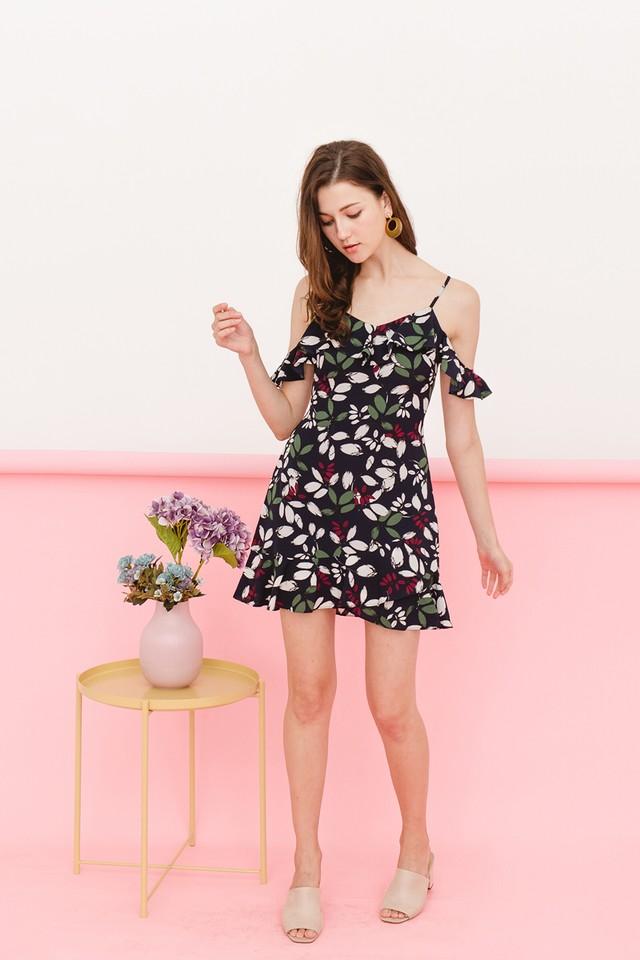 Kaori Dress Navy Floral