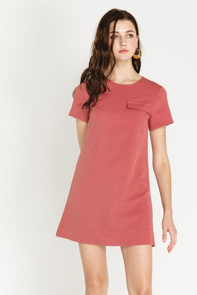 Athene Dress Terracotta