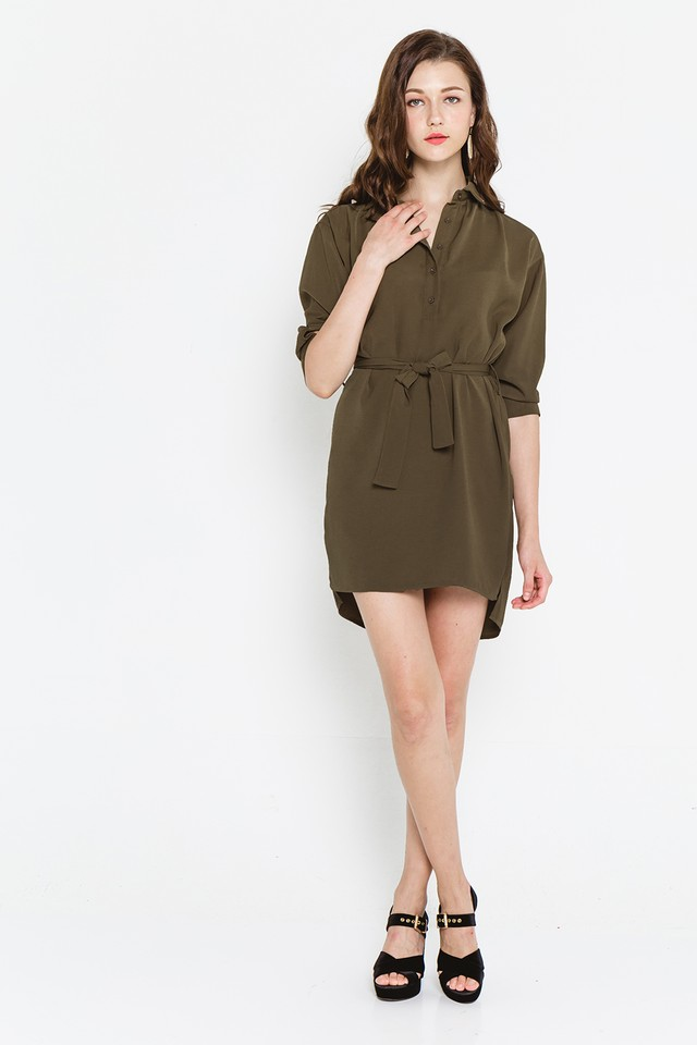 Landen Shirtdress Army