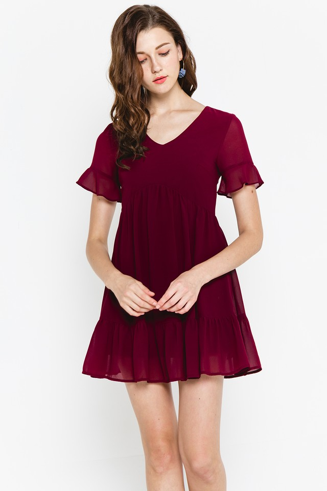 Xenia Dress Burgundy