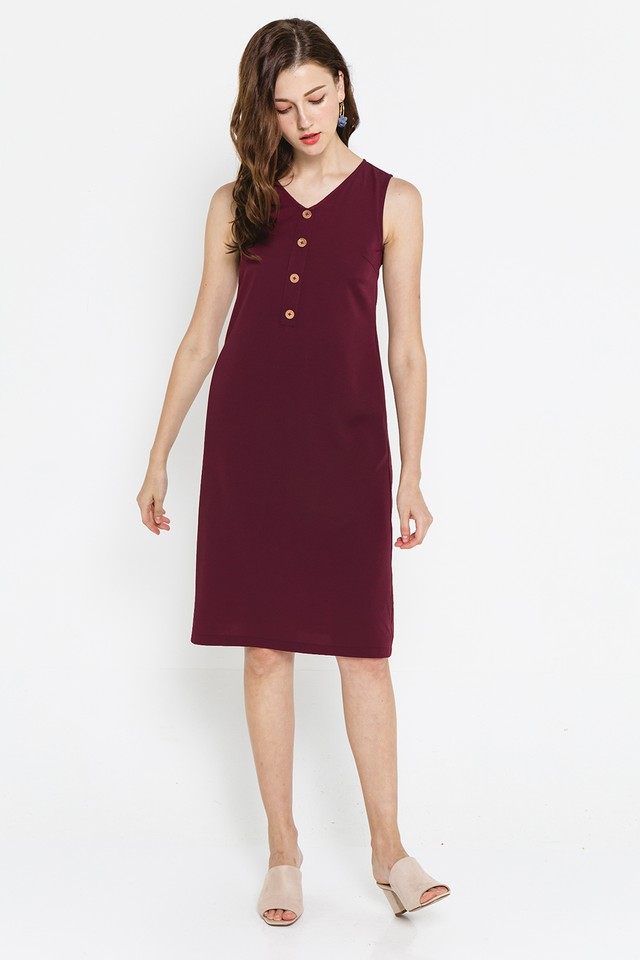 Shaelyn Dress Burgundy
