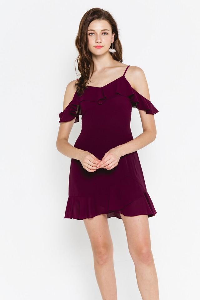 Kaori Dress Burgundy