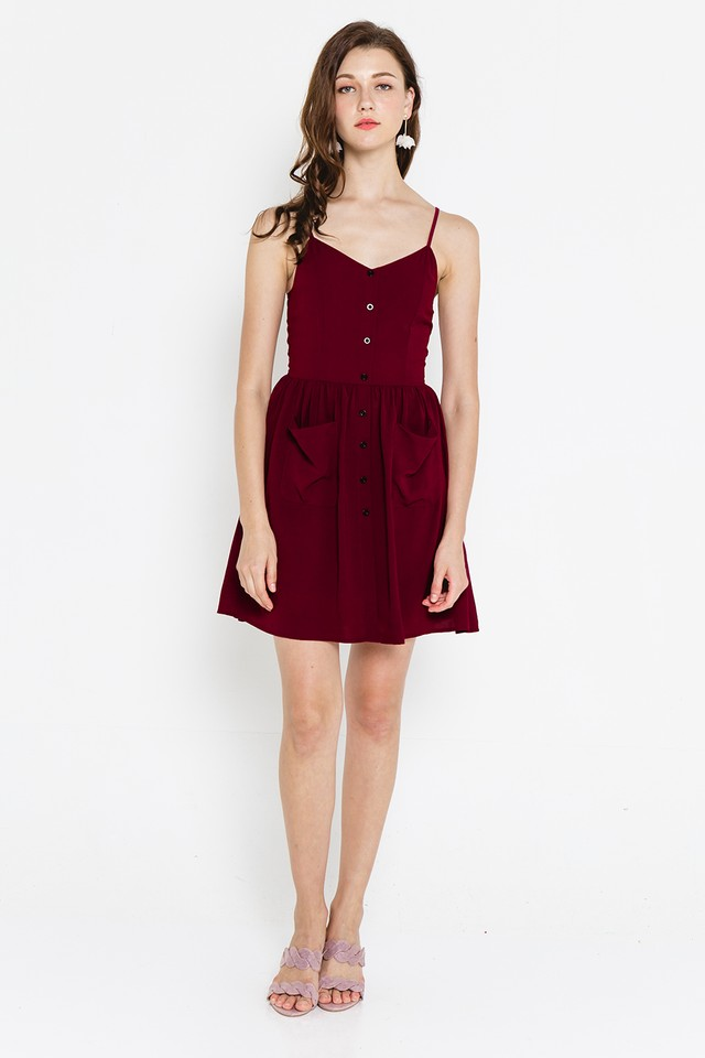 Vesper Dress Wine