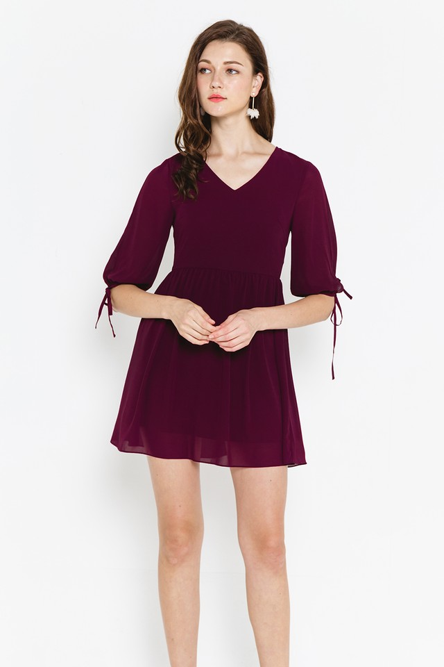 Gertrude Dress Burgundy