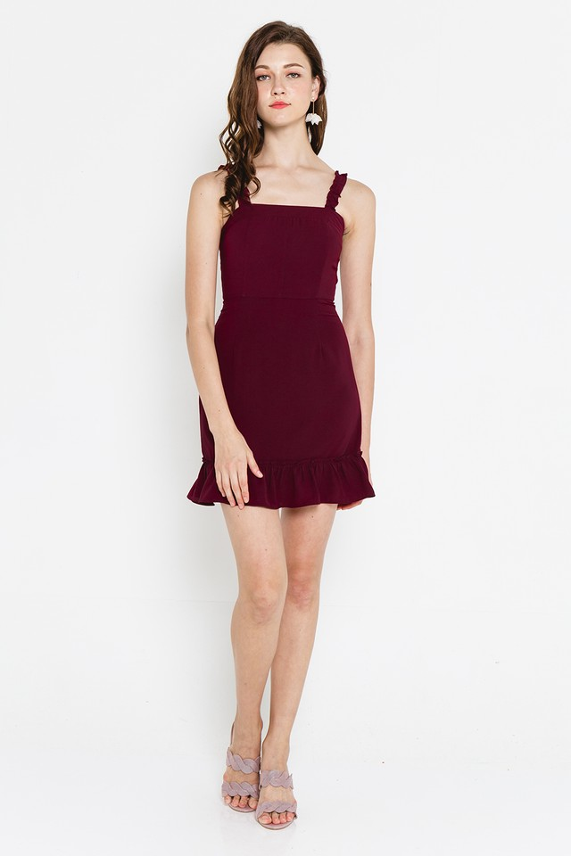Xaviera Dress Burgundy