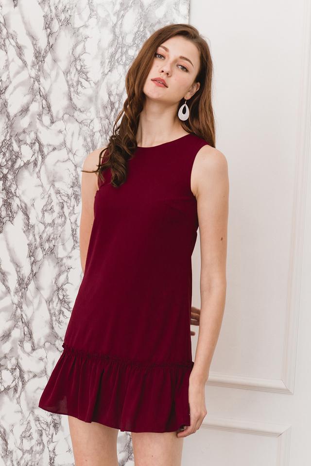 Petra Dress Burgundy