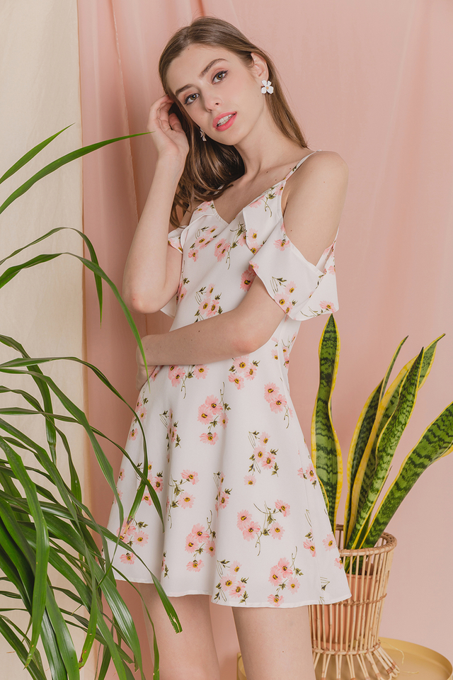 Saffron Dress White Floral