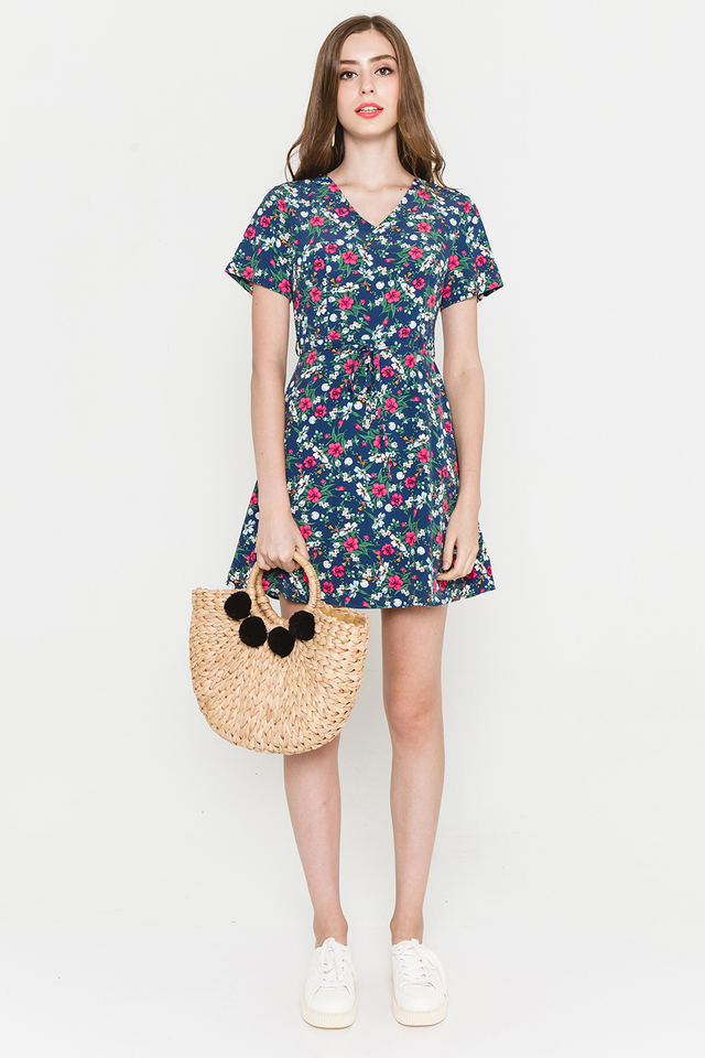 Moya Dress Navy Floral