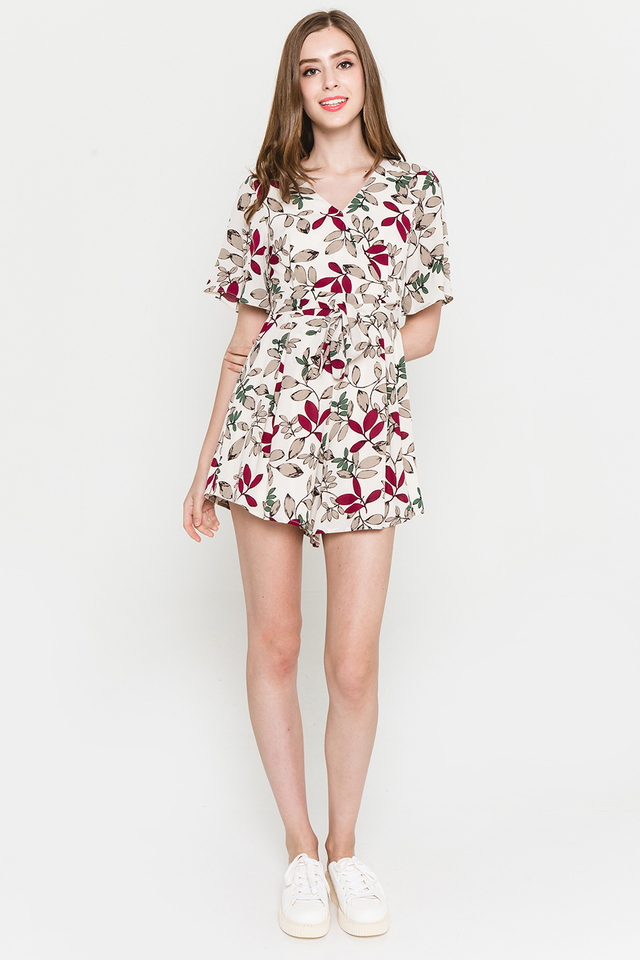 Blakely Playsuit White Floral