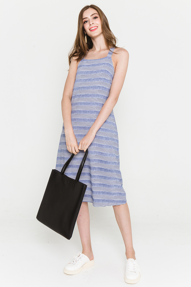 Elen Dress Navy Stripes