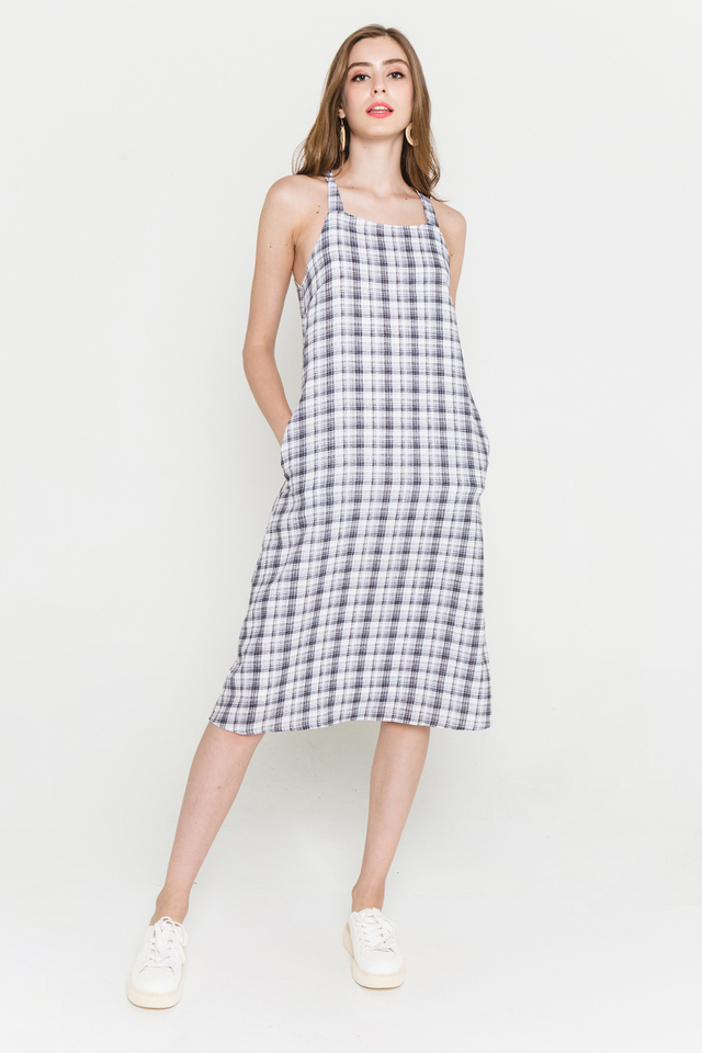 Elen Dress Black Plaids