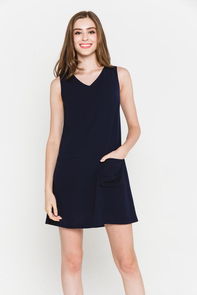 Rania Dress Navy