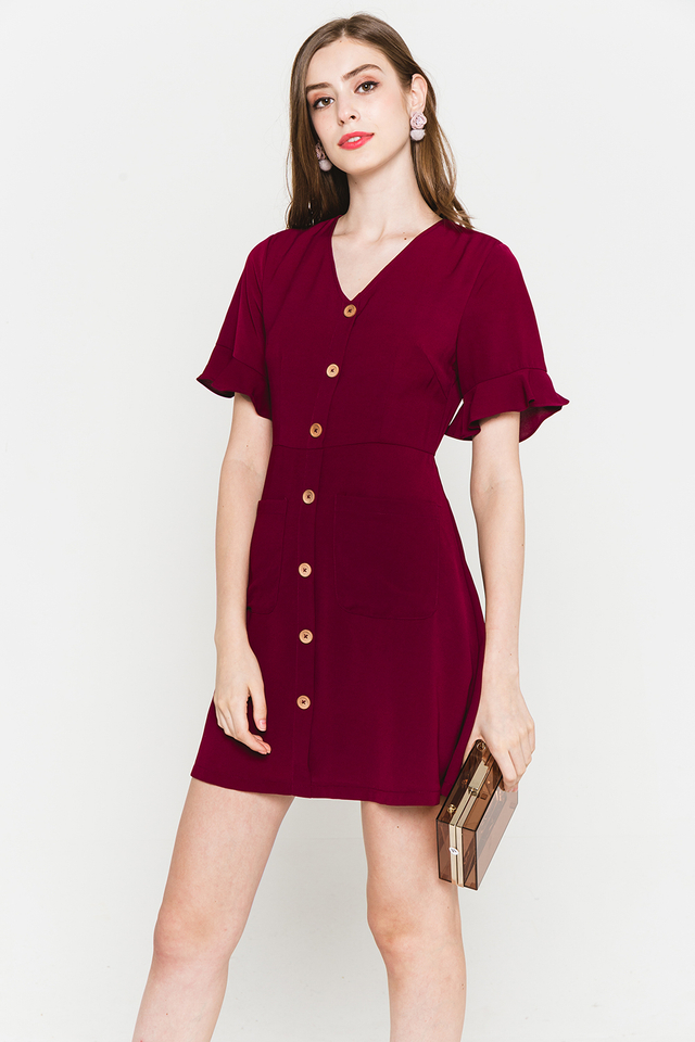 Julisa Dress Maroon