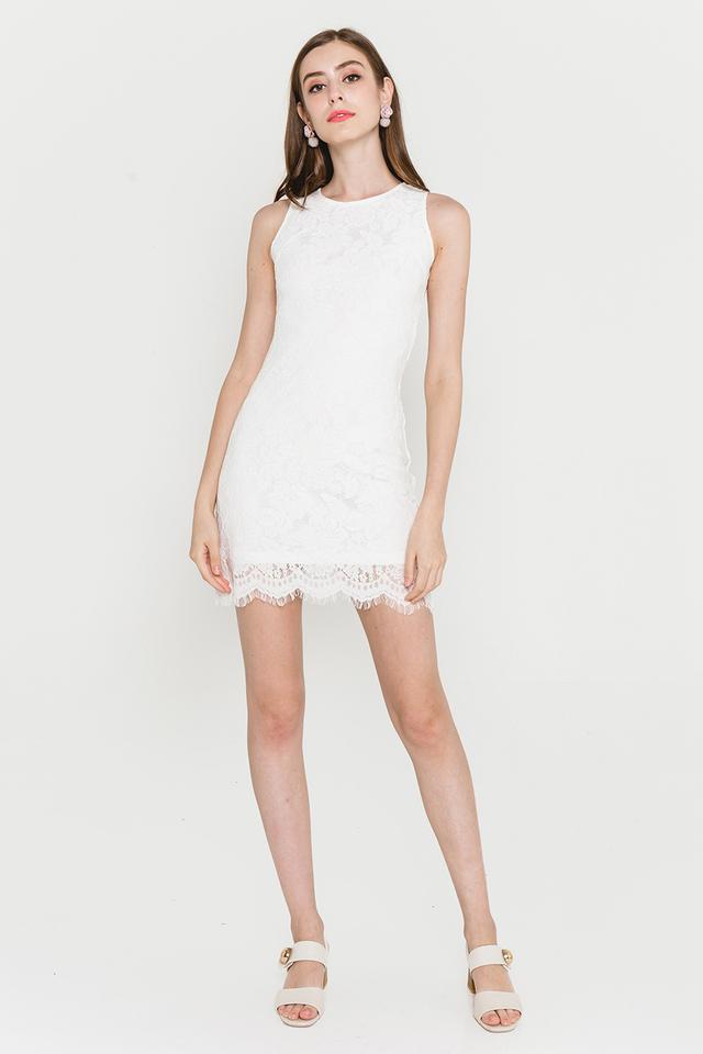 Allyson Lace Dress White