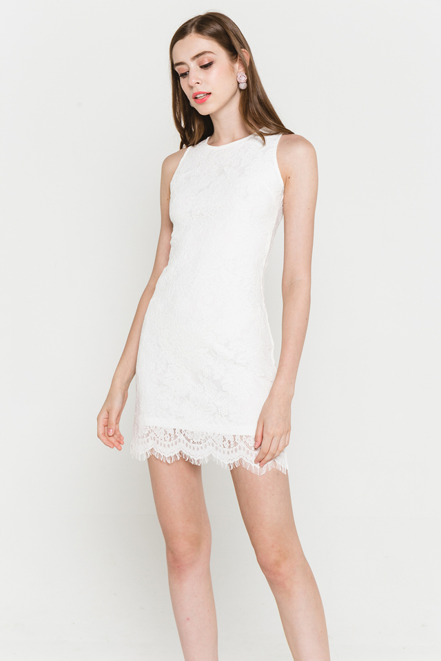 Allyson Lace Dress White