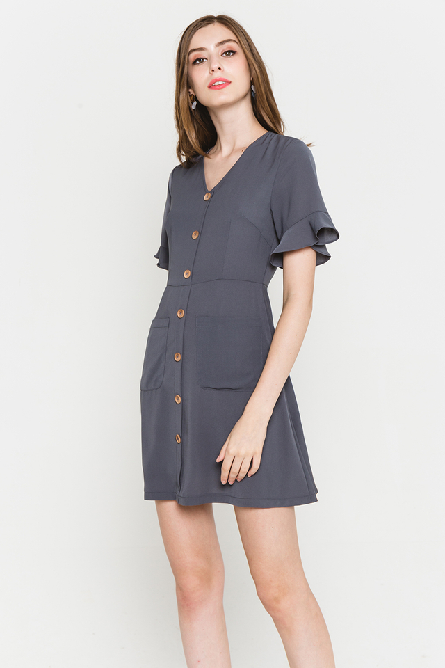 Julisa Dress Slate Grey