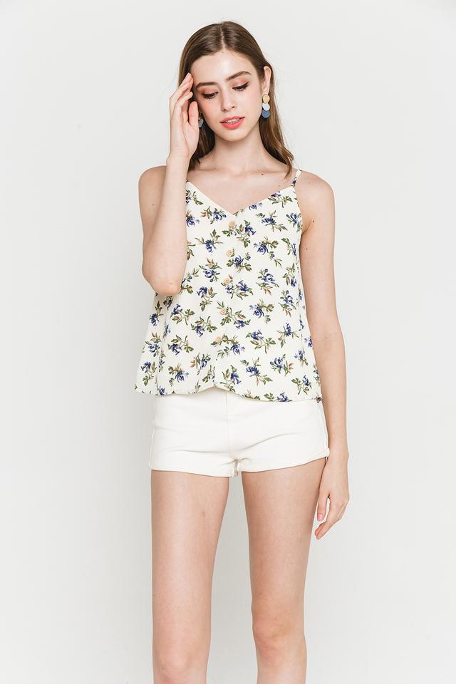 Cori Top White Floral