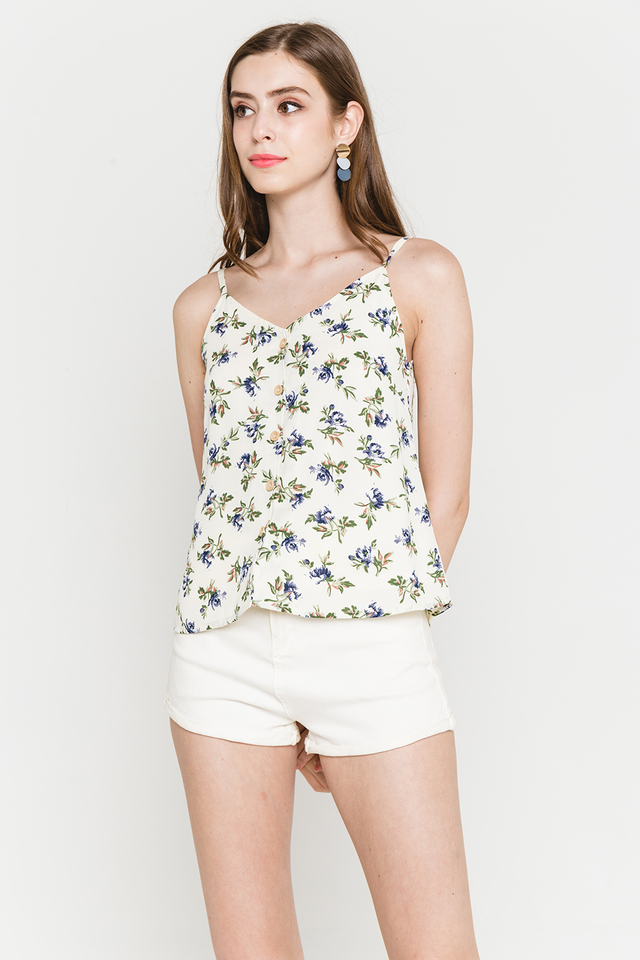 Cori Top White Floral