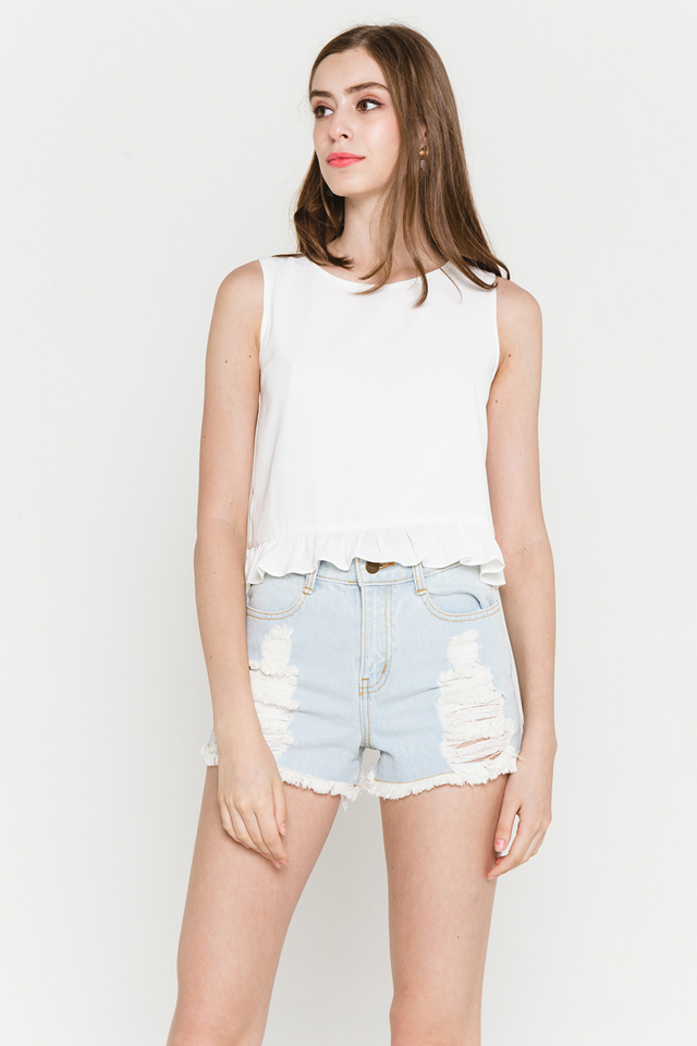 Coleen Top White