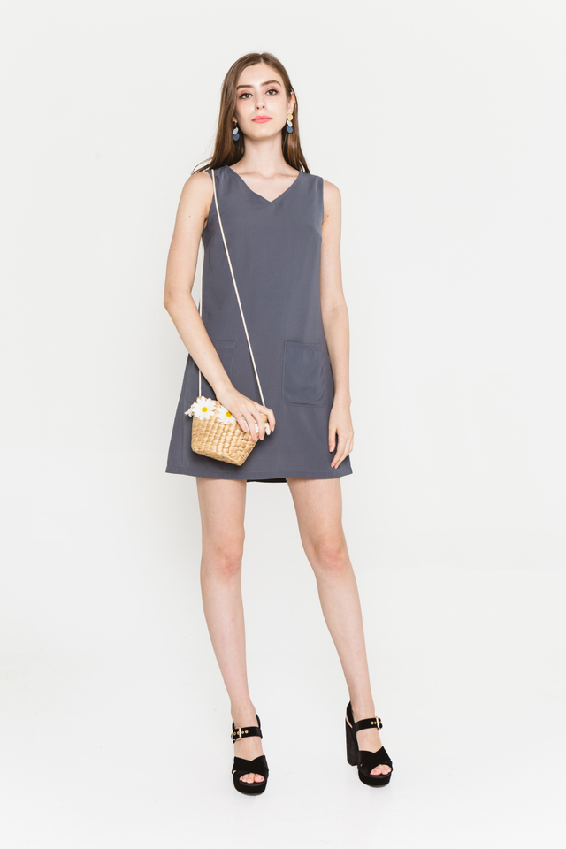 Rania Dress Slate Grey