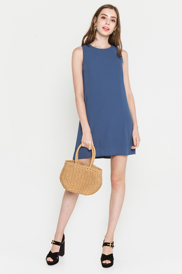 Lynne Dress Ash Blue