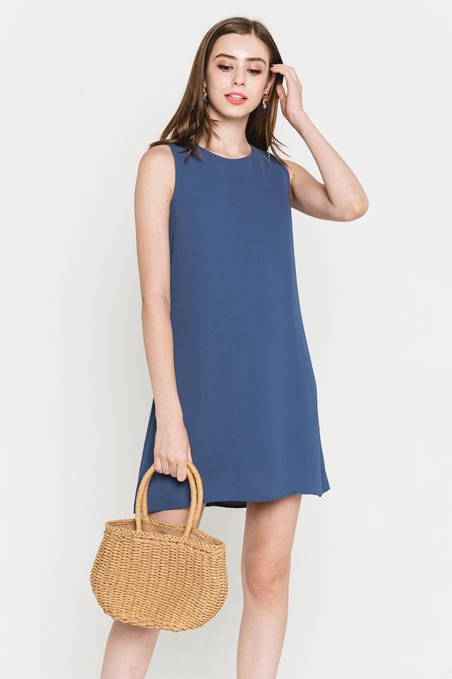 Lynne Dress Ash Blue