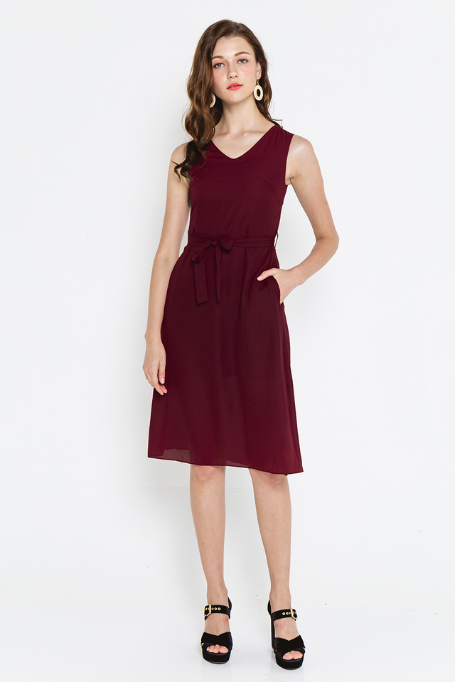 Amaya Dress Burgundy