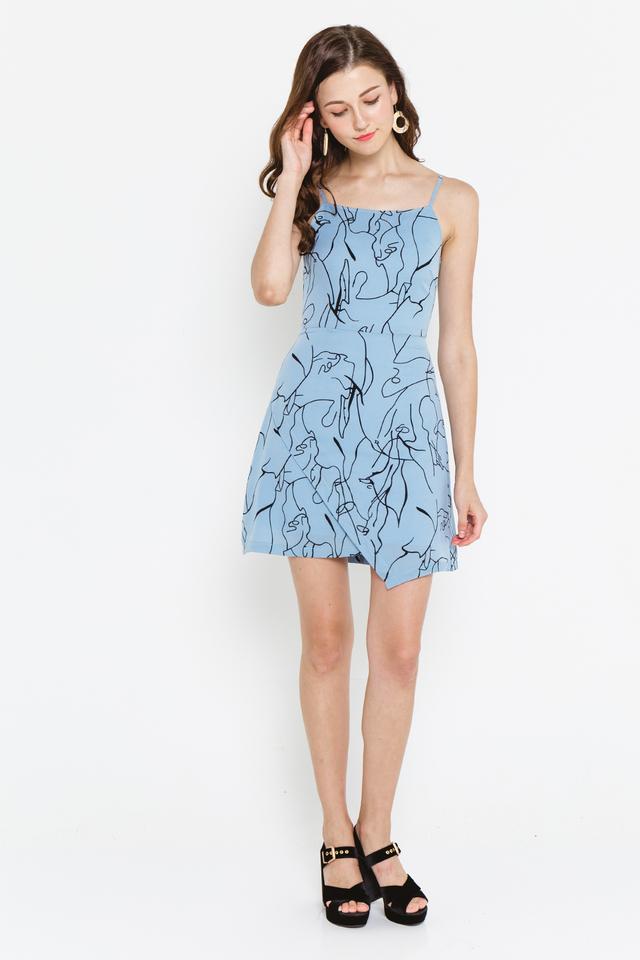 Becca Dress Blue Graphic