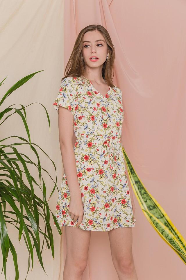 Moya Dress Cream Floral