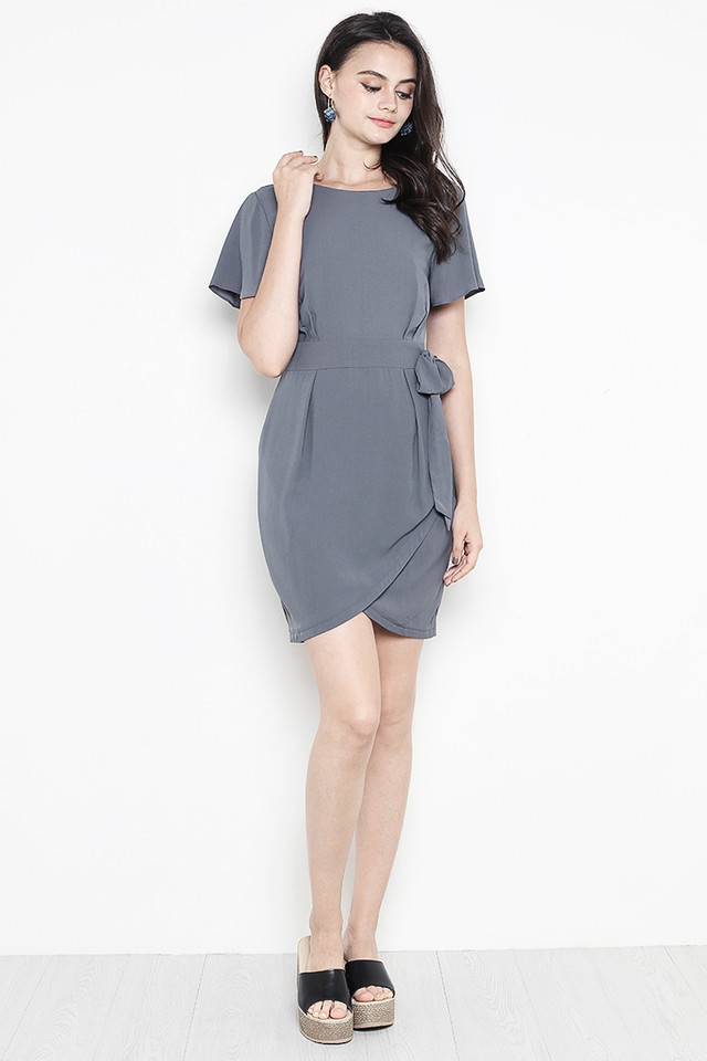 Alessa Dress Slate Grey