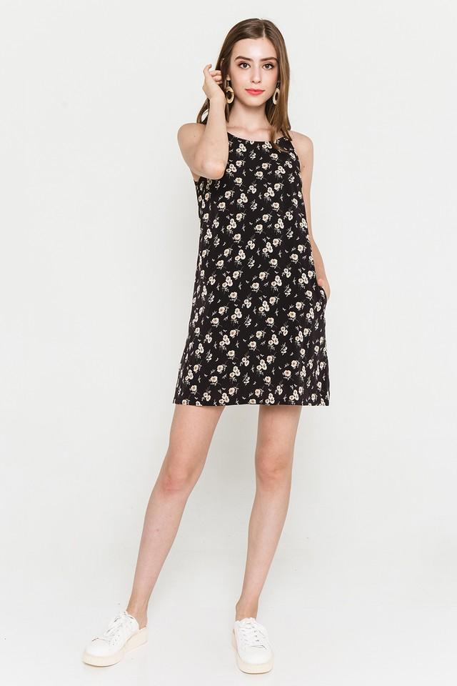 Lyndonn Dress Black Floral