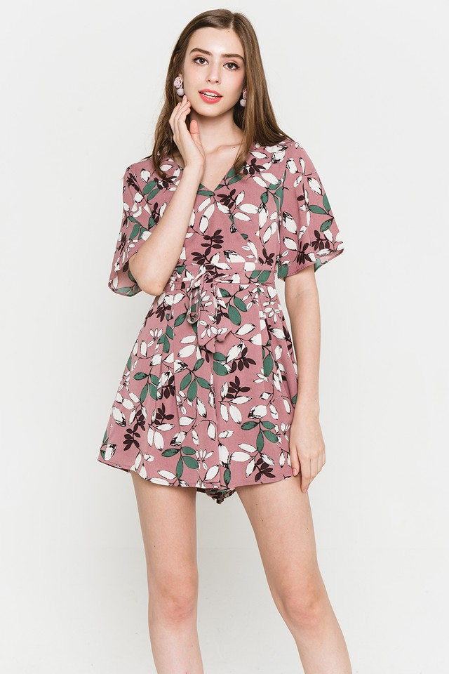 Blakely Playsuit Mauve Floral