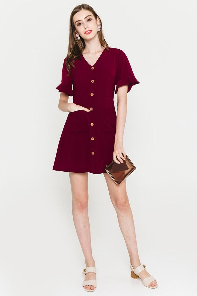 Julisa Dress Maroon