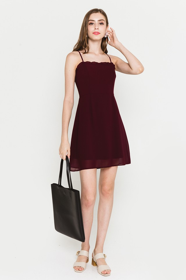 Rydel Dress Burgundy