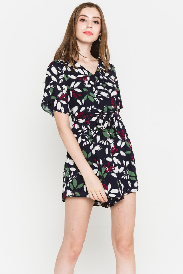 Blakely Playsuit Navy Floral