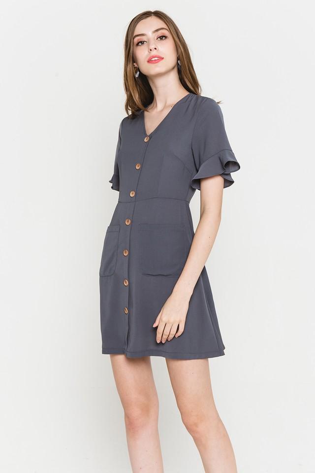 Julisa Dress Slate Grey