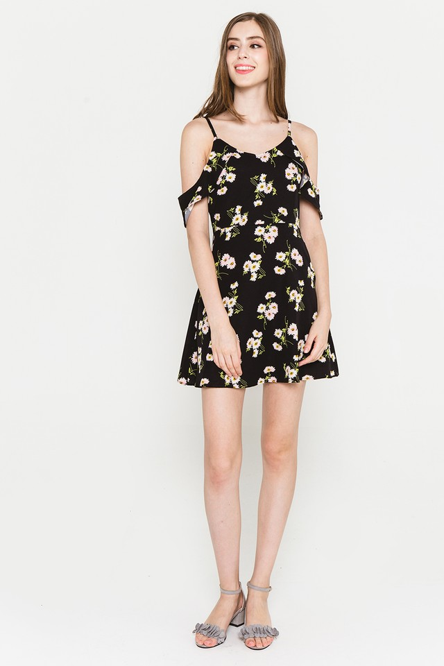 Saffron Dress Black Floral
