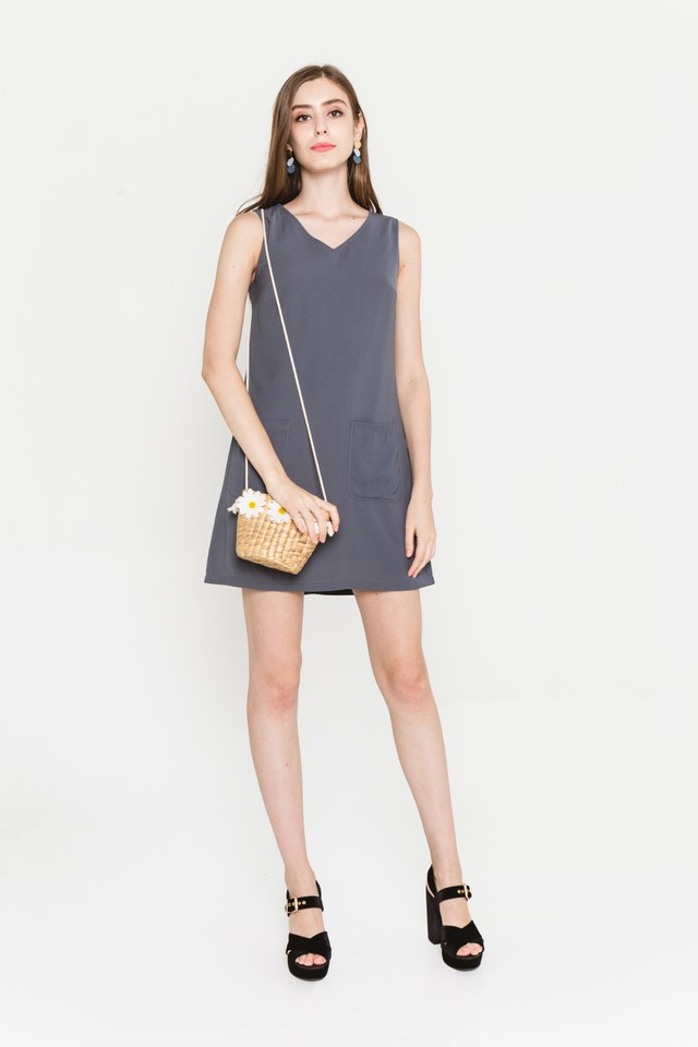 Rania Dress Slate Grey