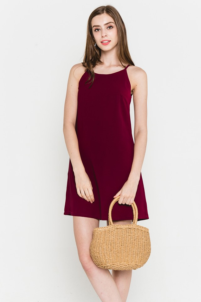 Lyndonn Dress Burgundy
