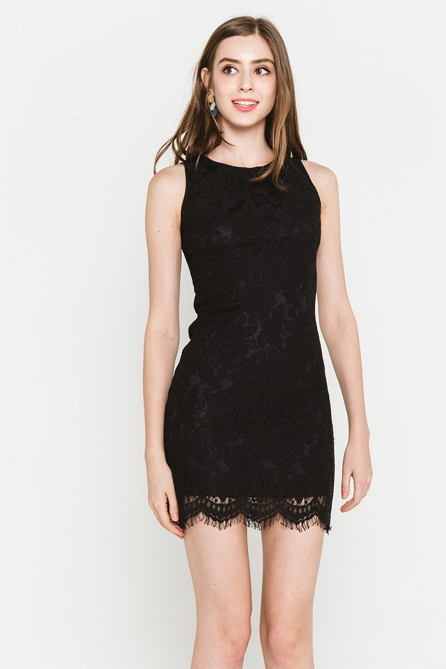 Allyson Lace Dress Black