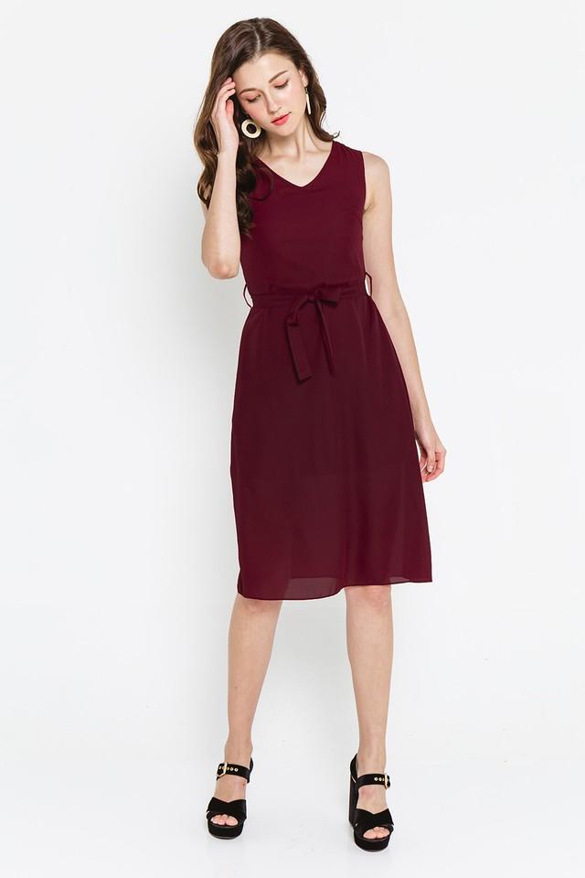 Amaya Dress Burgundy