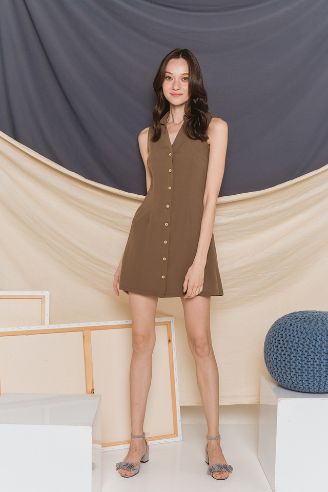 Mavis Shirtdress Olive