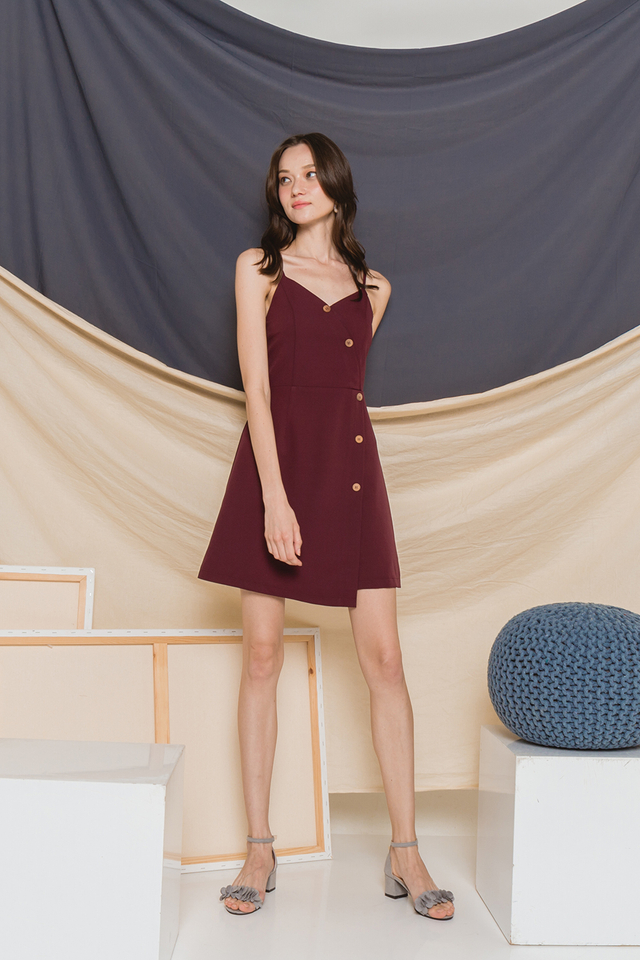 Florin Dress Burgundy