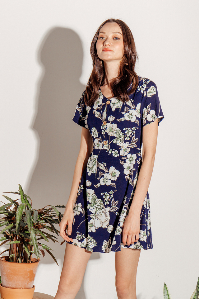 Zadie Dress Navy Floral