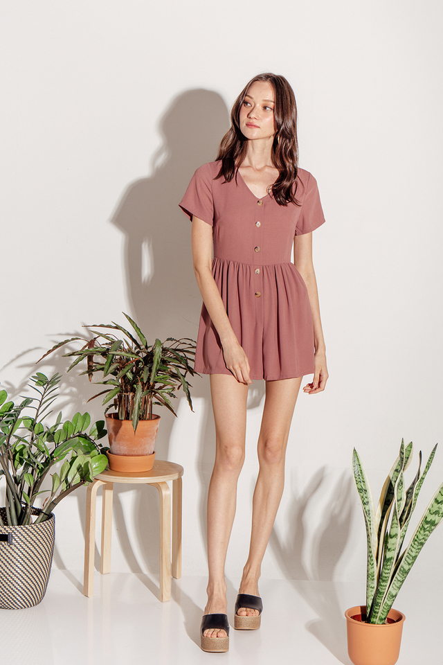 Charley Playsuit Dusty Pink