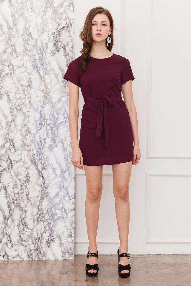 Aerona Dress Burgundy
